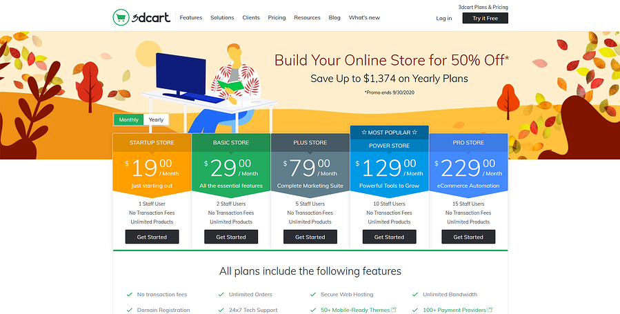 3dcart Pricing Page