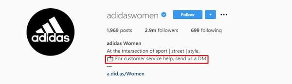 Adidas Instagram Bio