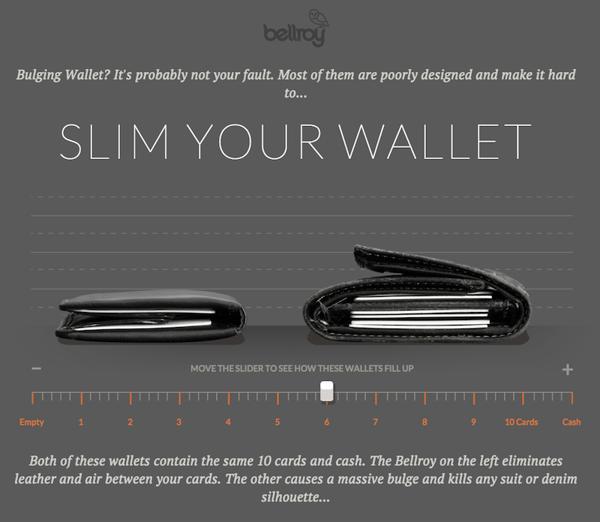 Bellroy wallet interactive
