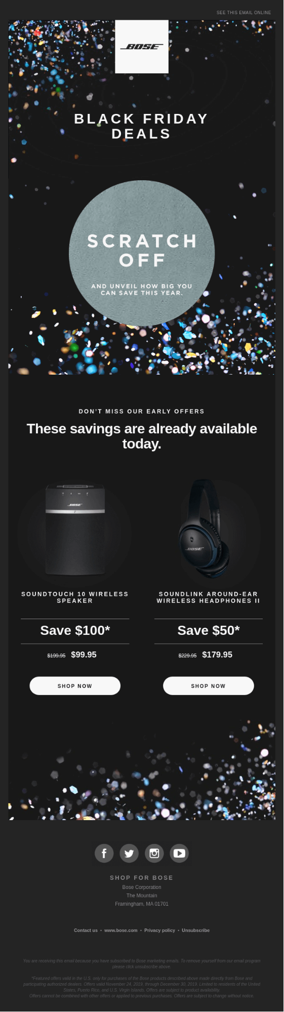 Bose Black Friday Email