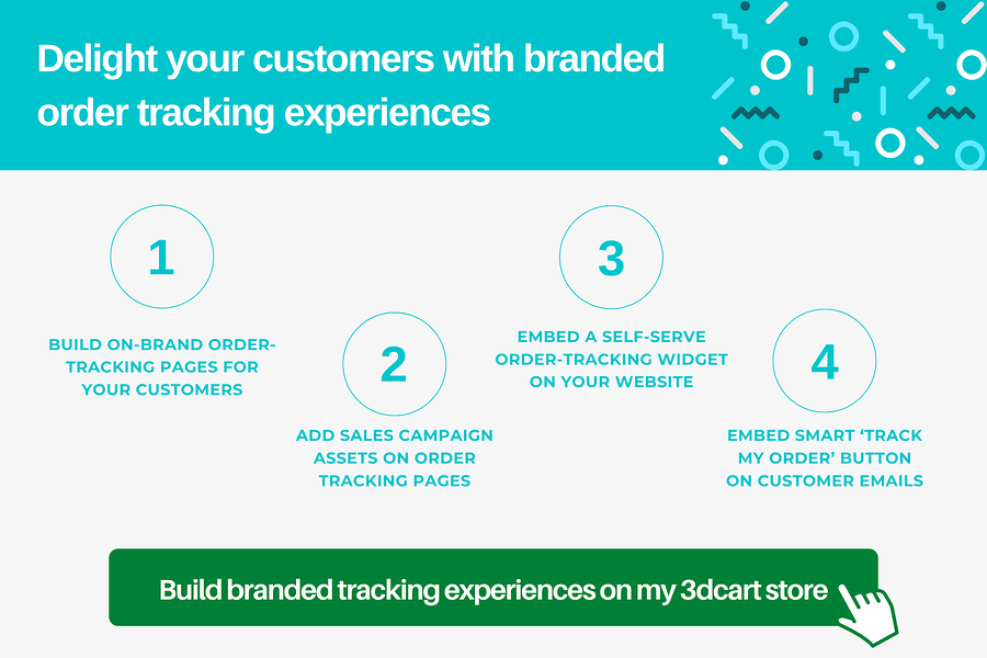 Build branded tracking experiences on my Shift4Shop store