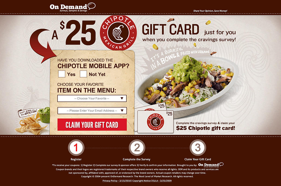 Chipotle Landing Page