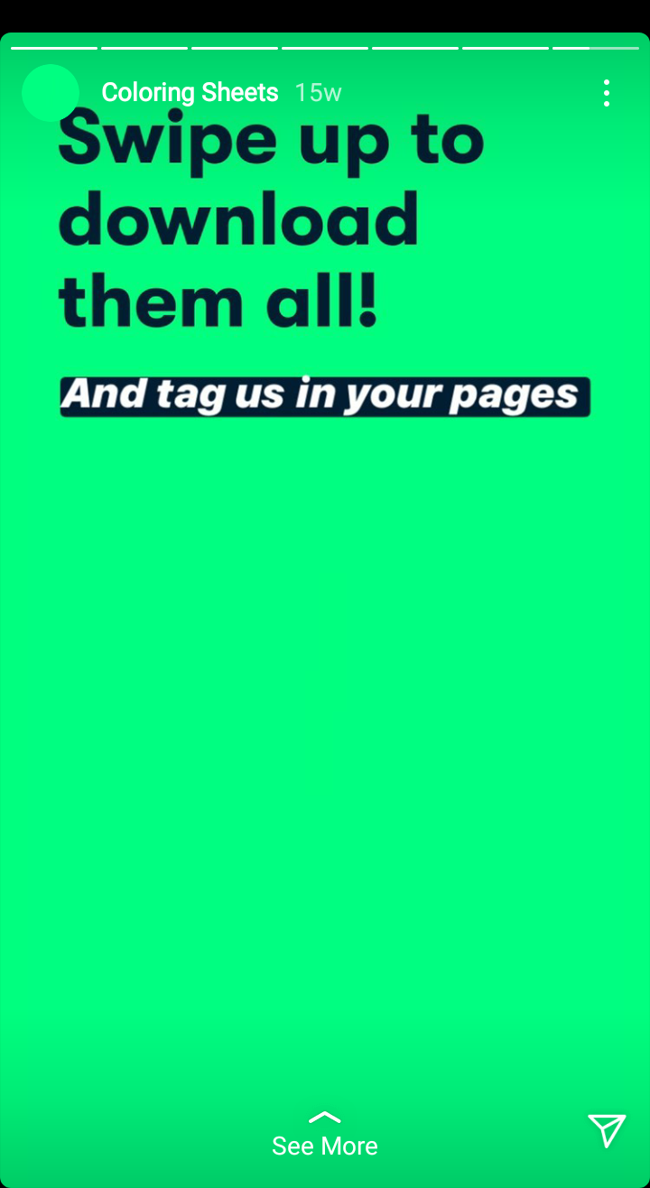 Coloring Sheets Instagram Stories Swipe Up Link