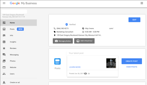 Configure your Google My Business account