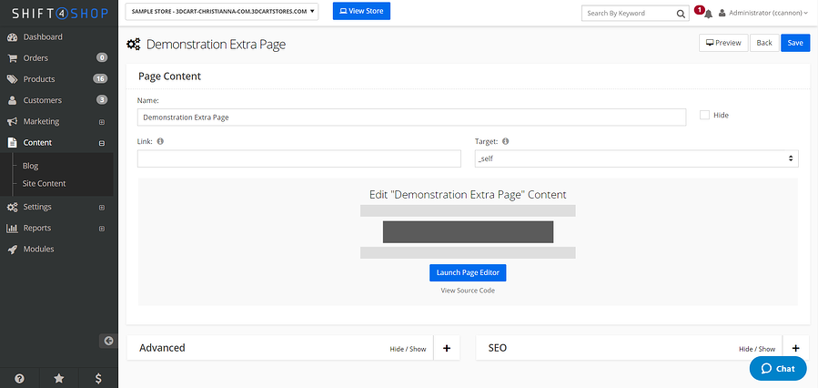 Creating Content Pages 03 - How to Launch the Page Editor