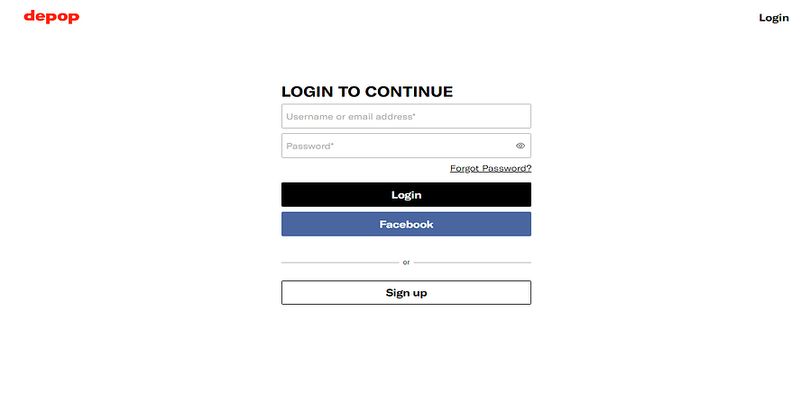Depop Website Log In