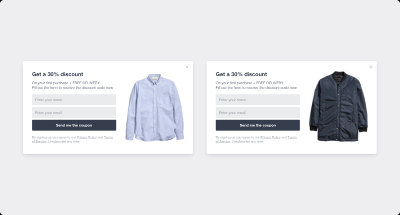 Email Signup A/B Testing