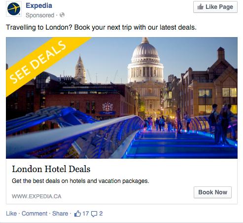 Expedia Facebook Retargeting