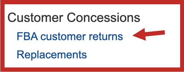 FBA Customer Returns