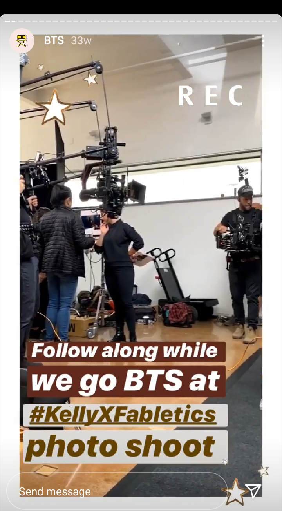 Fabletics BTS Instagram Live