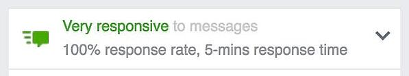 Facebook Message Response Time