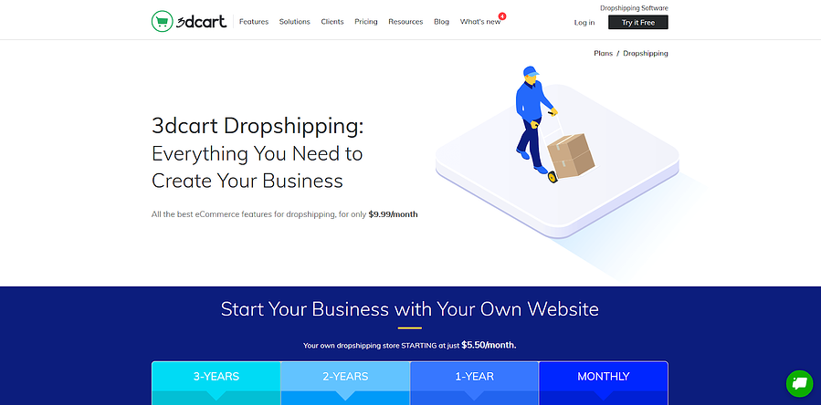Dropshipping Plan from 3dcart