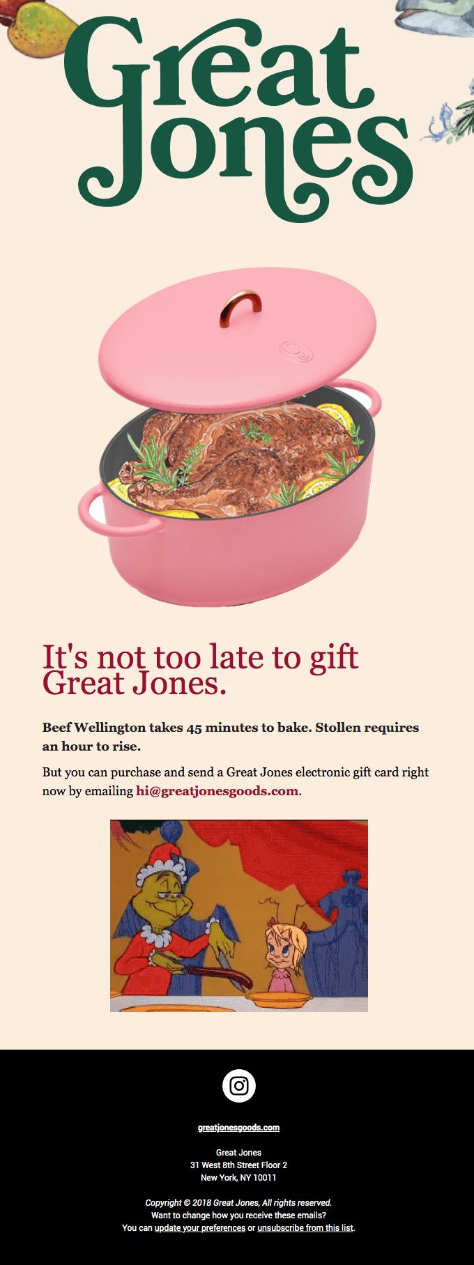 Great Jones Retro-Futurist Email