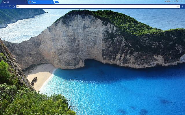 Greek Beach Chome theme