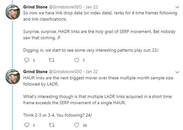 Grindstone Backlinks Tweet 2