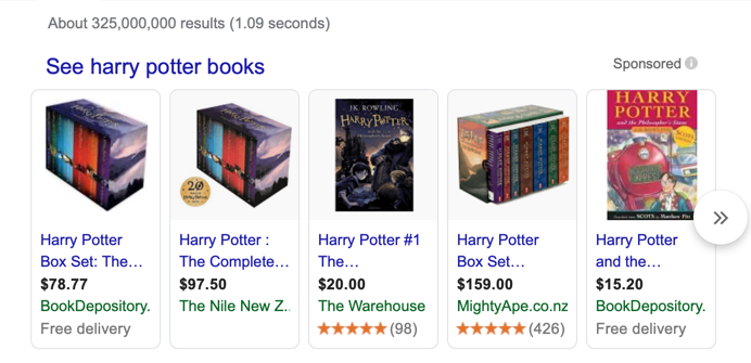 Harry Potter PPC Ads
