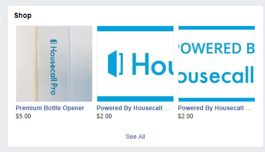 HousecallPro Facebook Shop