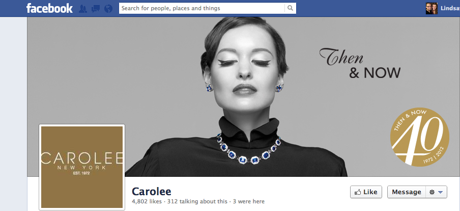 well designed facebook page