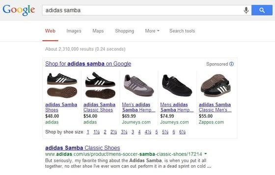 Adidas Sambas SERP