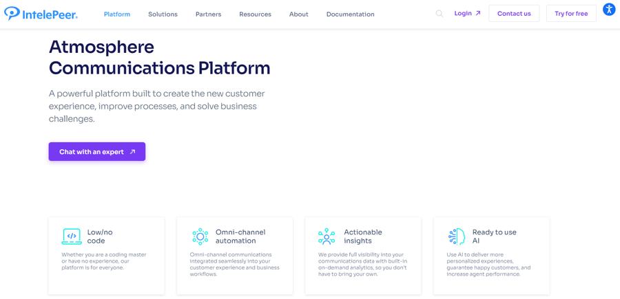 IntelePeer Atmosphere Platform