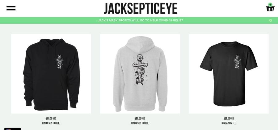 Jacksepticeye merchandise store