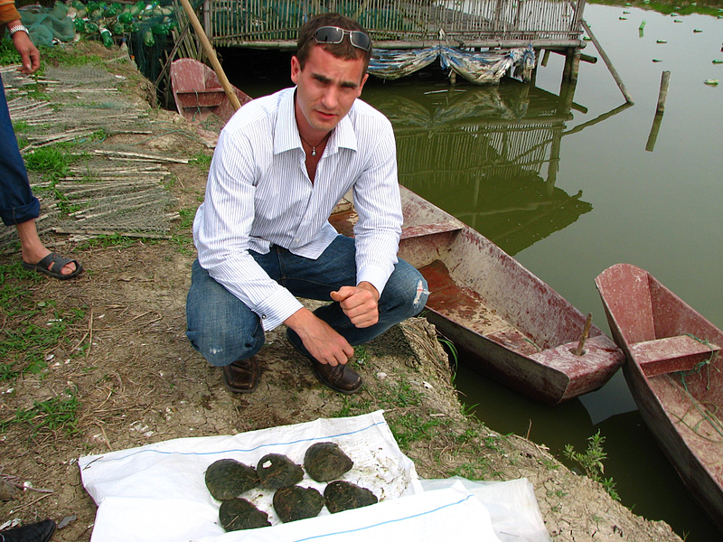Kevin Canning at a Pearl Farm