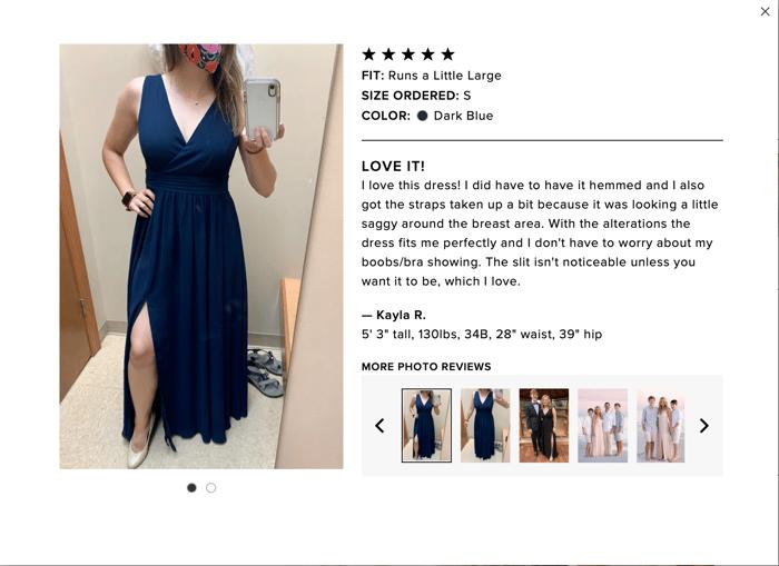 Lulus customer review