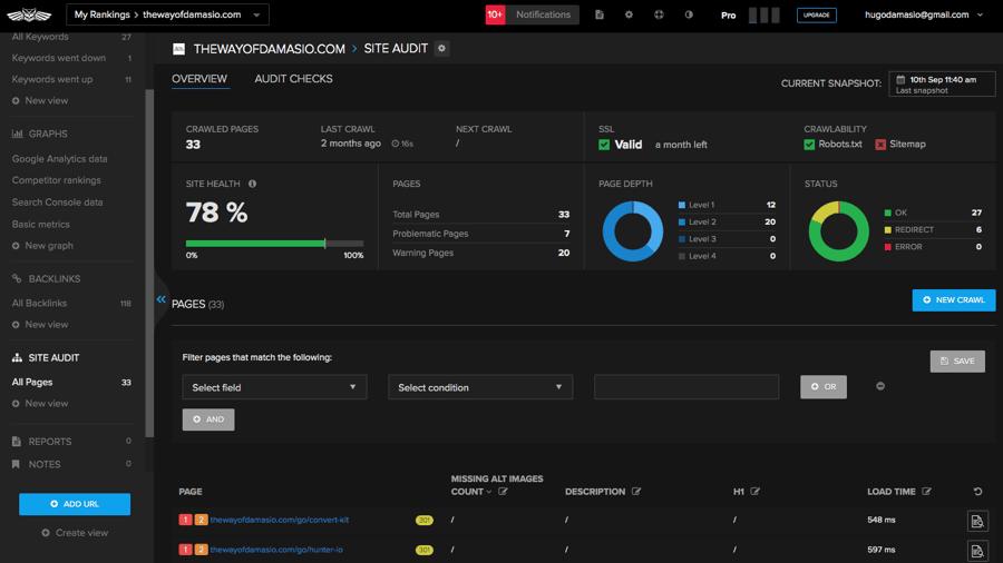 Nightwatch Site Audit tool