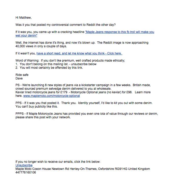 プレーンテキストの電子メール