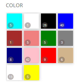Search Filter Color Swatches