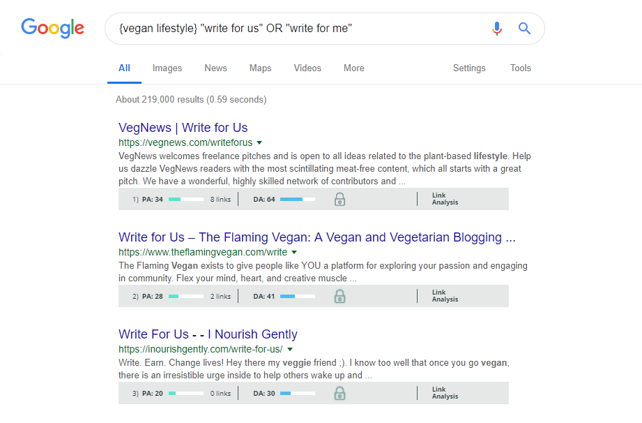 Searching Google for Guest Writer Opportunities
