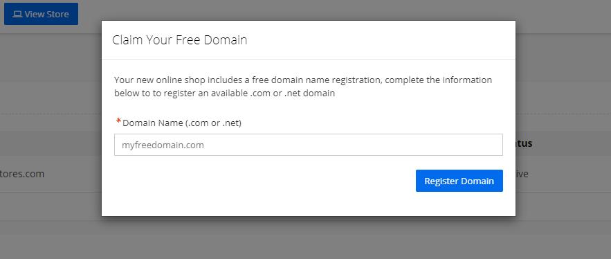 Step 6 Claim Free Domain Name