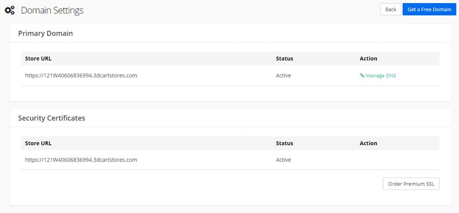 Step 6 Domain Settings