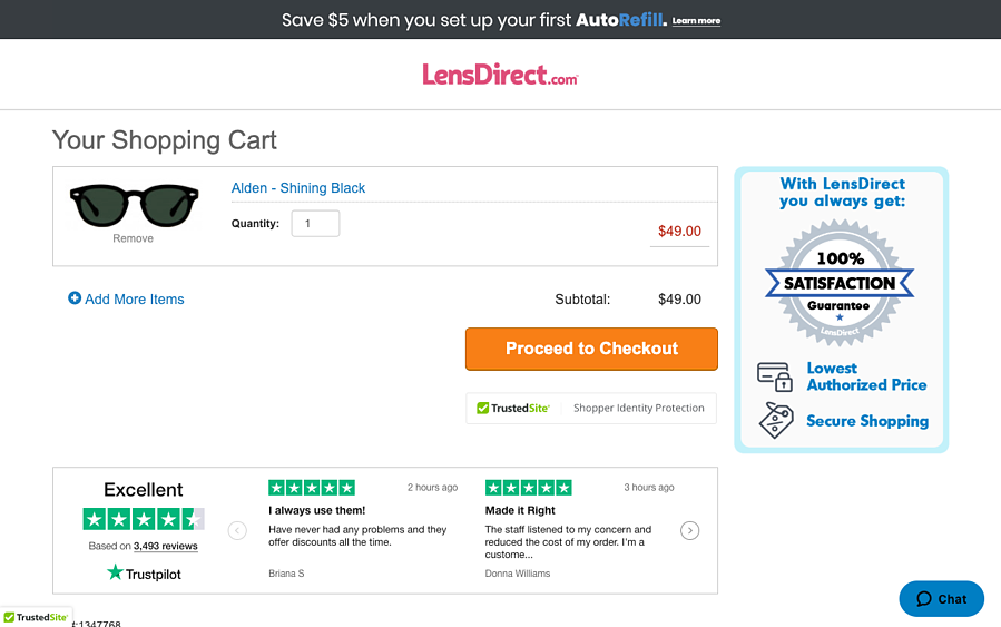 Using customer reviews on product page