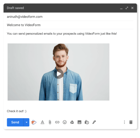 VideoForm personalized email