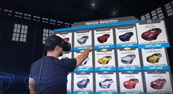 Vroom VR showroom
