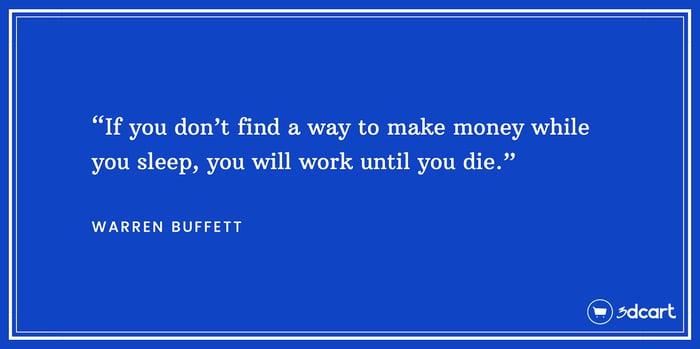 Warren Buffet Passive Income Quote