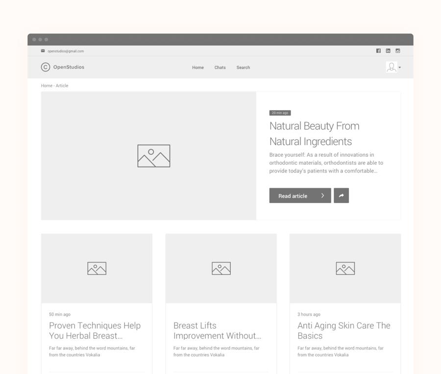 Website wireframe