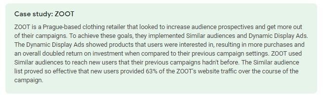 ZOOT case study