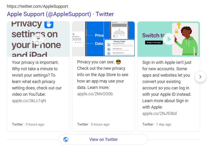 apple support twitter