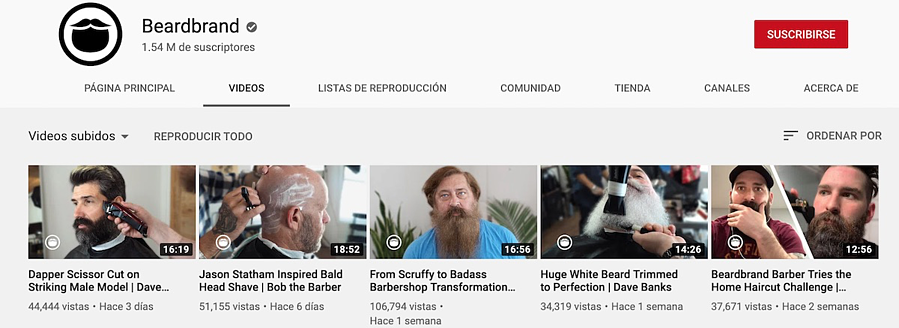 beardbrand youtube