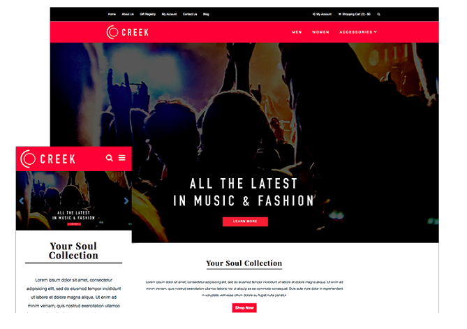 ecommerce startup website theme
