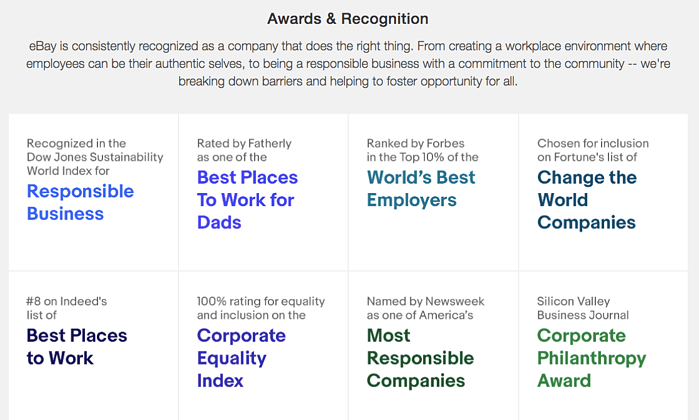 eBay awards and recognitions