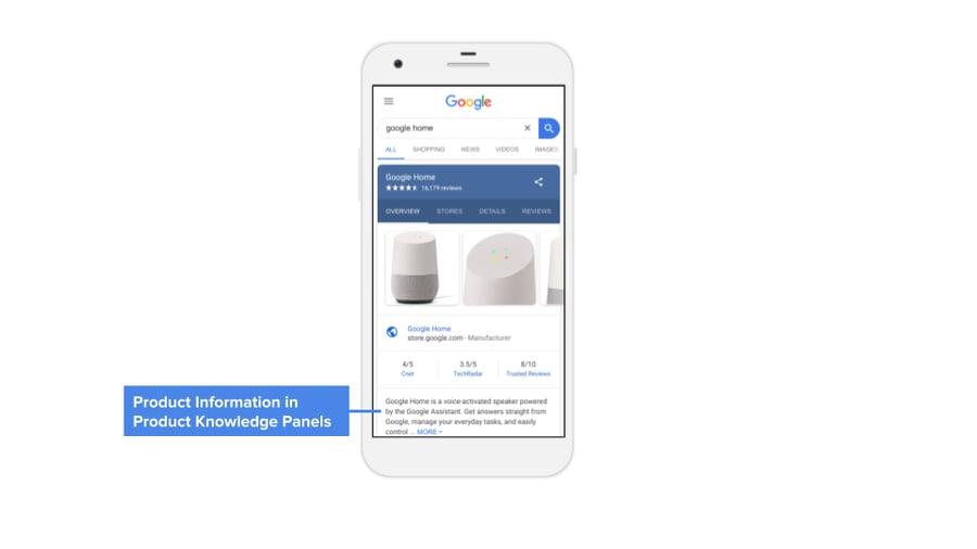 google manufacturer center knowledge panel