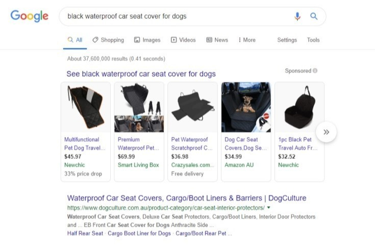 high intent google search
