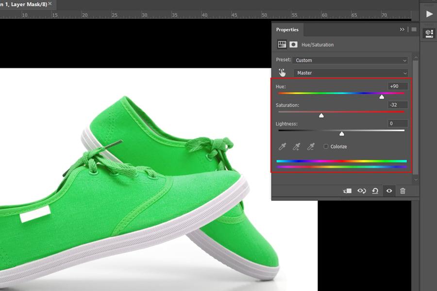 photoshop change colors hsl tool