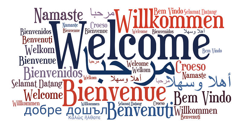 """""""Welcome"""" in different languages and fonts"""