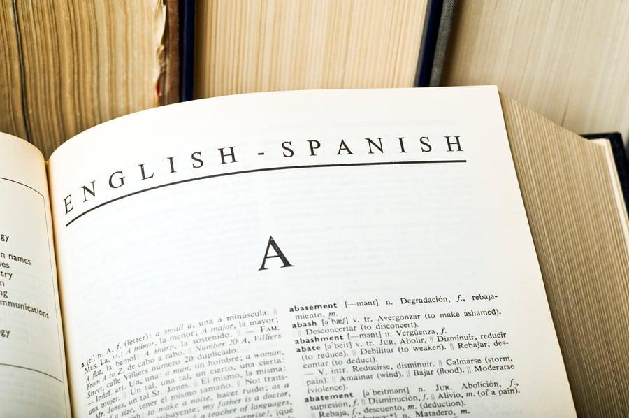 English to Spanish glossary