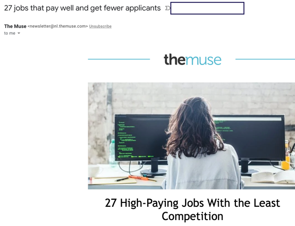 27 high paying jobs subject line