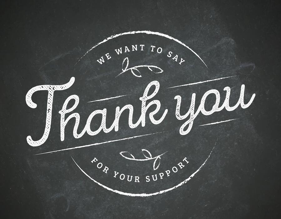 Thanking a customer allows you to build a relationship with them